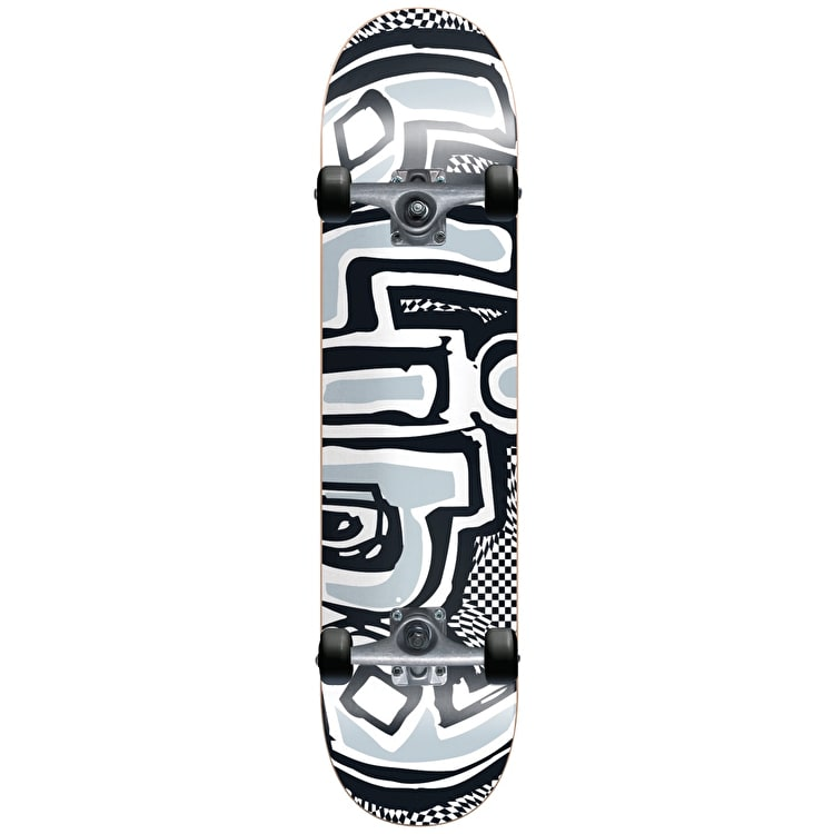 Blind Warped Complete Skateboard - Black/White 7.625""