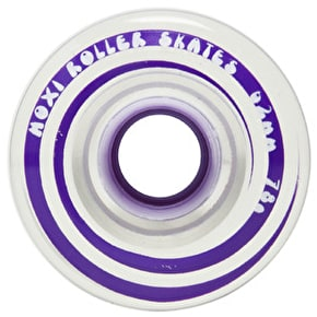 Moxi 62mm Gummy Quad Skate Wheels Clear Purple 78A