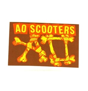 AO Scooters Stickers - Brown