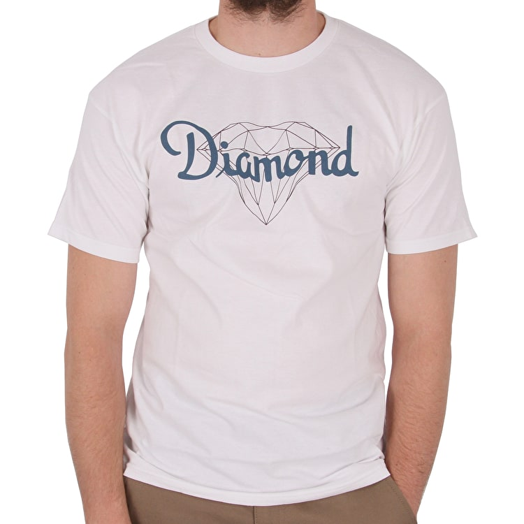 Diamond Champagne Cut T shirt - White