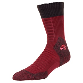 Nike Elite Crew Socks - Team Red/Velvet Brown