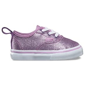 Vans Authentic Elastic Toddler Shoes - (Glitter & Metallic) Lilac