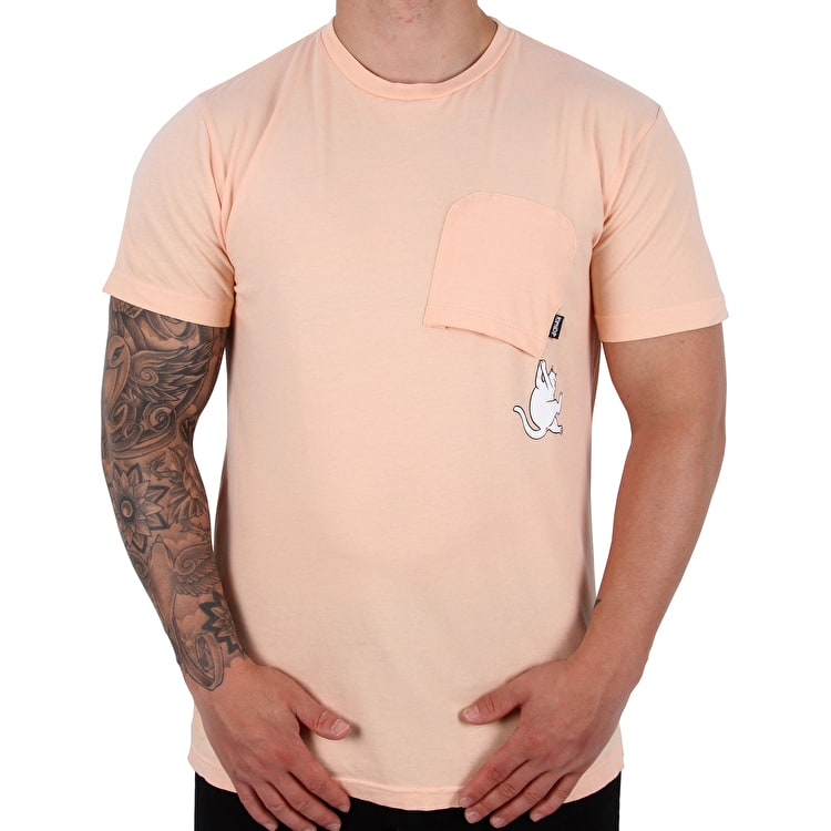 RIPNDIP Hang In There T shirt - Peach