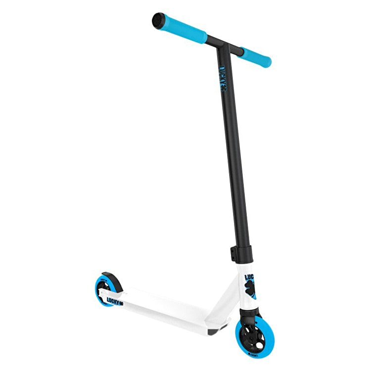 Lucky Crew Pro Complete Scooter - White/Cyan