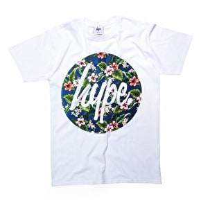 Hype Flower Circle T-Shirt - White