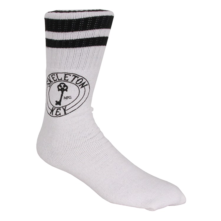 Skeleton Key Factory Dot Socks - White/Black