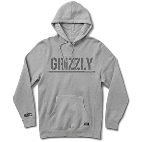 Grizzly Rough Stamp Hoodie - Grey
