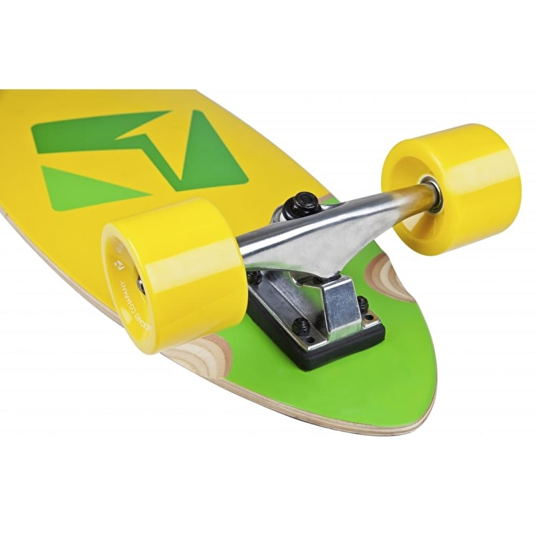 Atlantic Kicktail Longboard - Calypso Green/Yellow 37""