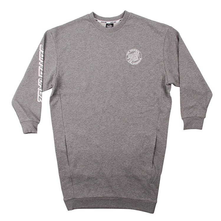 Santa Cruz Cali Dot Crew Dress - Grey Heather