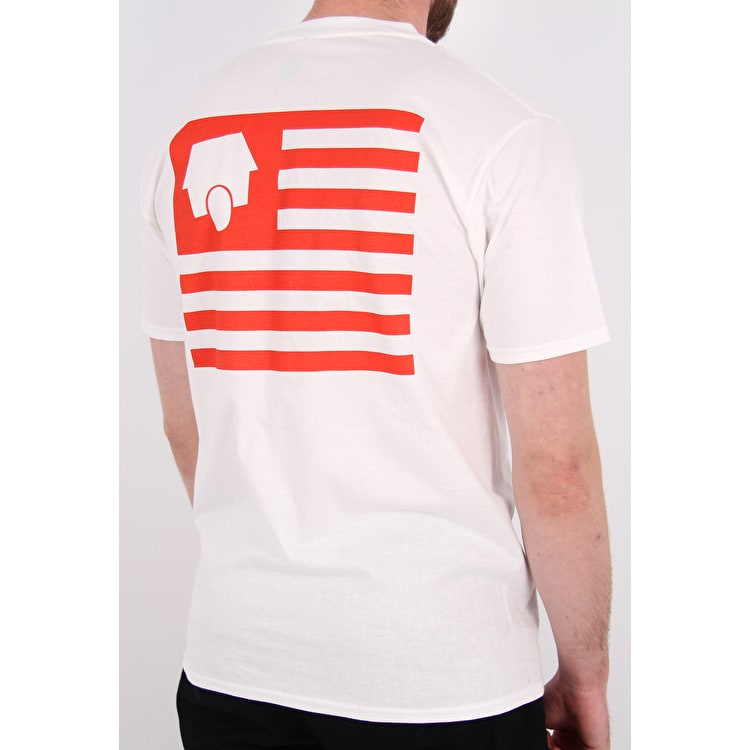 SkateHut Statehut T-Shirt - White/Red