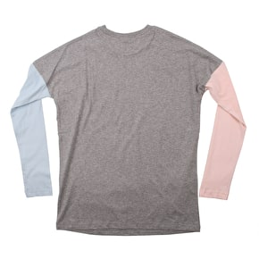 Santa Cruz Rays Cut & Sew Longsleeve Contrast Womens T-Shirt - Grey Heather
