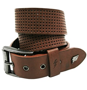 LowLife Clyde Perforated Belt - Brazil Nut