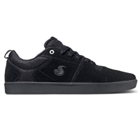 DVS Nica Shoes - Black/Black/White Suede