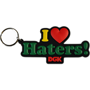 DGK Haters Key Ring - Rasta