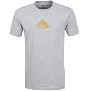 Emerica Triangle 7.1 T-Shirt - Grey/Yellow