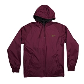 Primitive Circle Pennant Coaches Jacket - Burgundy
