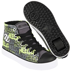 Heelys Hustle - Black/Grey/Lime/Graffiti