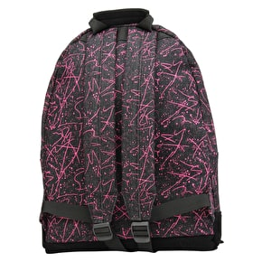Mi-Pac Denim Squiggle Backpack - Black/Pink