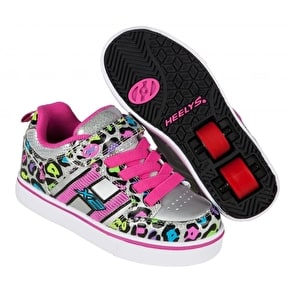 Heelys X2 Bolt Light Up - Silver/Multi/Cheetah