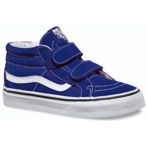 Vans Sk8-Mid V Kids Shoes - Patriot Blue/White