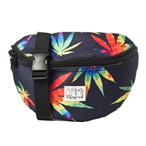 Spiral Harvard Bum Bag - Tie Dye Grass