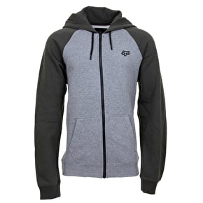 Fox Legacy Zip Fleece Hoodie - Heather Grey