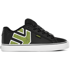 Etnies Fader Vulc Kids Skate Shoes - Black/White