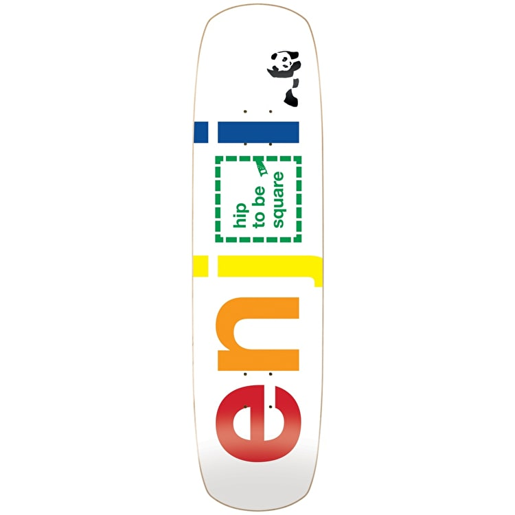Enjoi Skateboard Deck - Hip To Be Square R7 White 8.375""