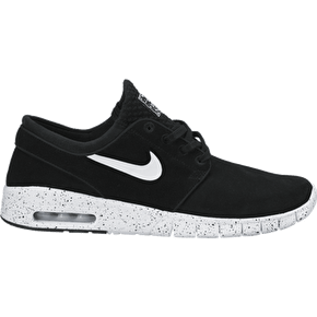 B-Stock Nike Stefan Janoski Max L Shoes - Black/White - UK 11 (Excess glue)