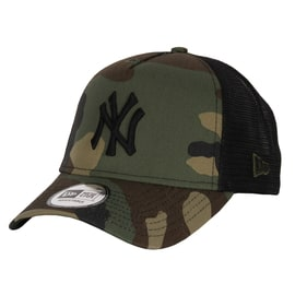 New Era Camo Team Trucker NY Yankees Cap - Woodland Camo