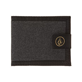 Volcom Circle Stone Cloth Wallet - Charcoal Heather