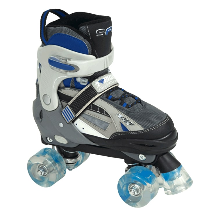 SFR Typhoon Adjustable Boys Quad Roller Skates - Black/Blue