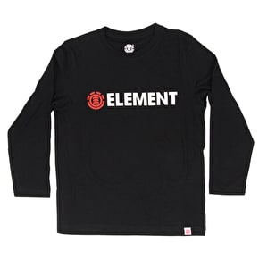 Element Blazin Longsleeve Kids T-Shirt - Flint Black