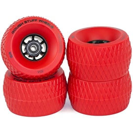 Slick Revolution Rough Stuff 85A Skateboard Wheels (4 Pack) - Red
