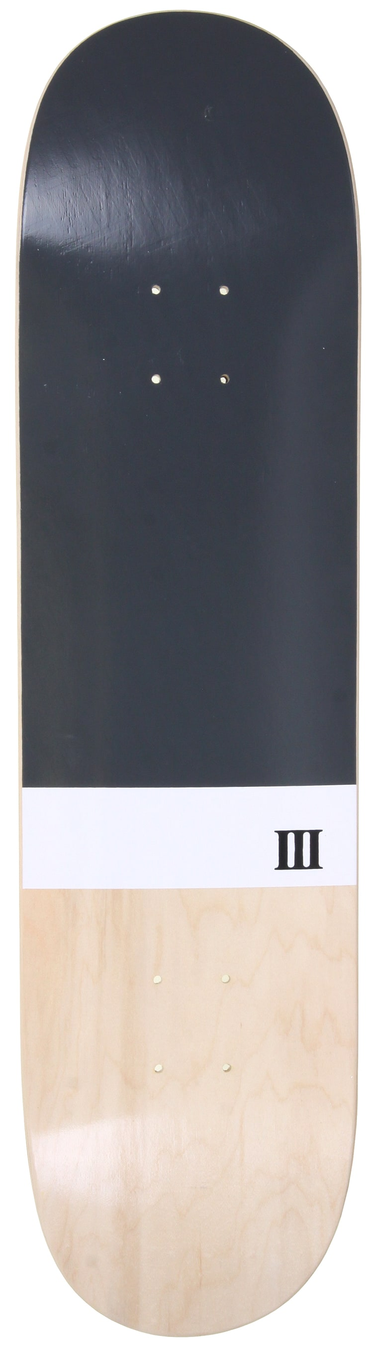 Image of A Third Foot Numeral Skateboard Deck - Dark Grey - 8.25""