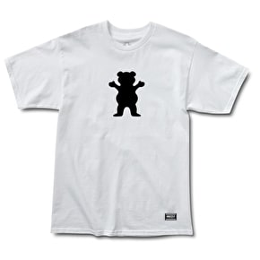 Grizzly OG Bear Logo Basic T-Shirt - White