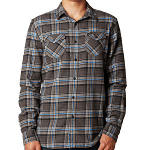 Fox Nico Longsleeve Flannel Shirt - Dark Fatigue