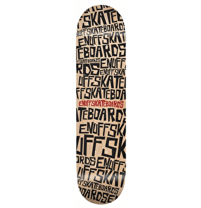 Enuff Scramble Skateboard Deck - Natural