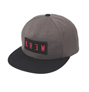 Kr3w Locker Patch Snapback Cap - Charcoal