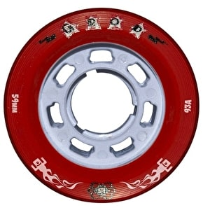 ATOM G-Rod 59mm X-Slim Quad Derby Wheels 93A (4pk) Red