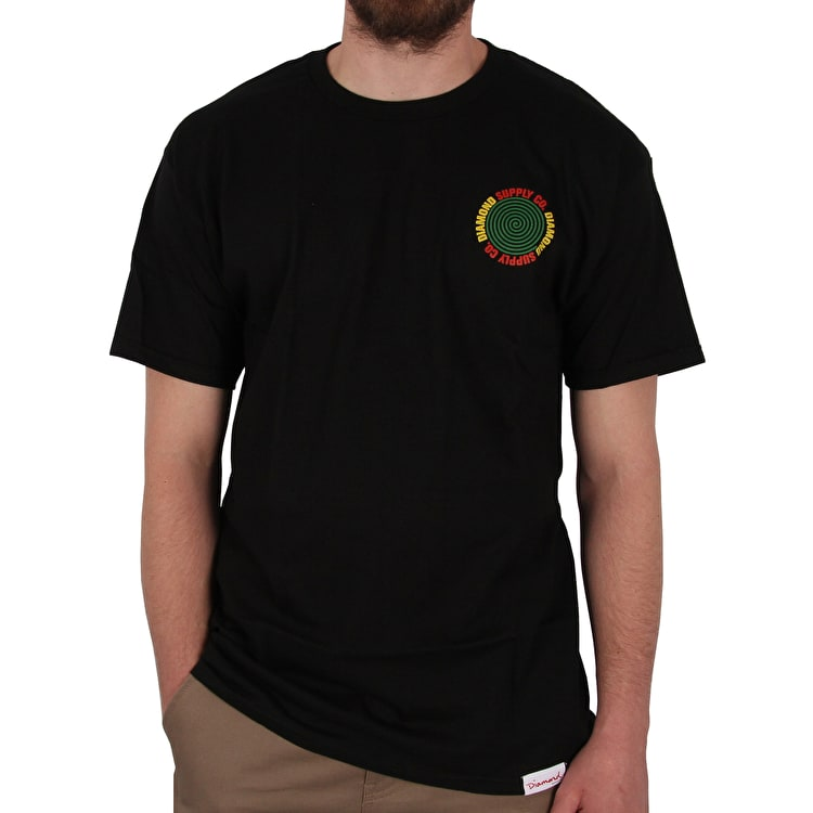 Diamond Spiral T-Shirt - Black