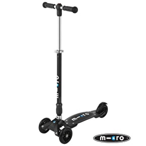 Micro Compact T-Bar Kickboard Scooter - Black