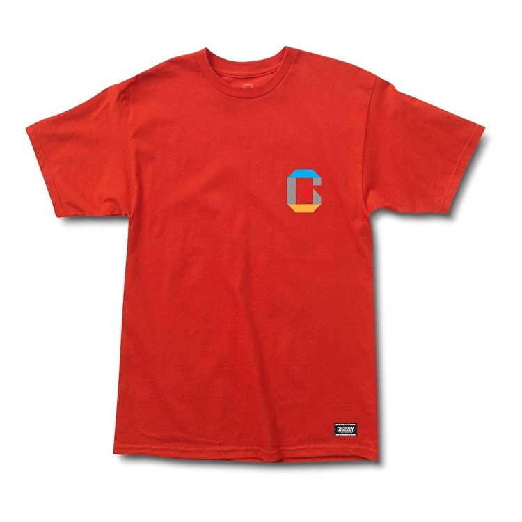 Grizzly Coliseum 3D T shirt - Red