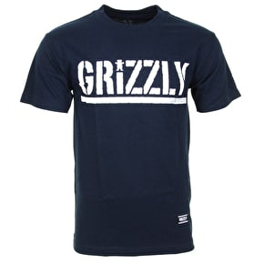 Grizzly OG Stamp Logo T-Shirt - Navy