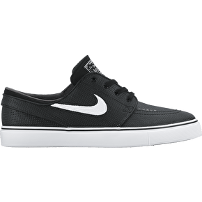 Nike SB Stefan Janoski Leather Shoes - Black/White/Wolf Grey