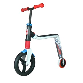 Scoot And Ride Highwayfreak 2in1 Junior Complete Scooter - White/Red/Blue