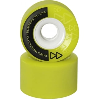 Forward Bumpers 70mm 83a Longboard Wheels - Anise (Pack of 4)