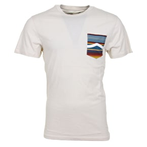 Vans Side Stripe Pocket T-Shirt - Turtle Dove/Blue Mirage