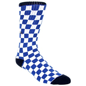 Vans Checkerboards Crew Socks - Blue/White