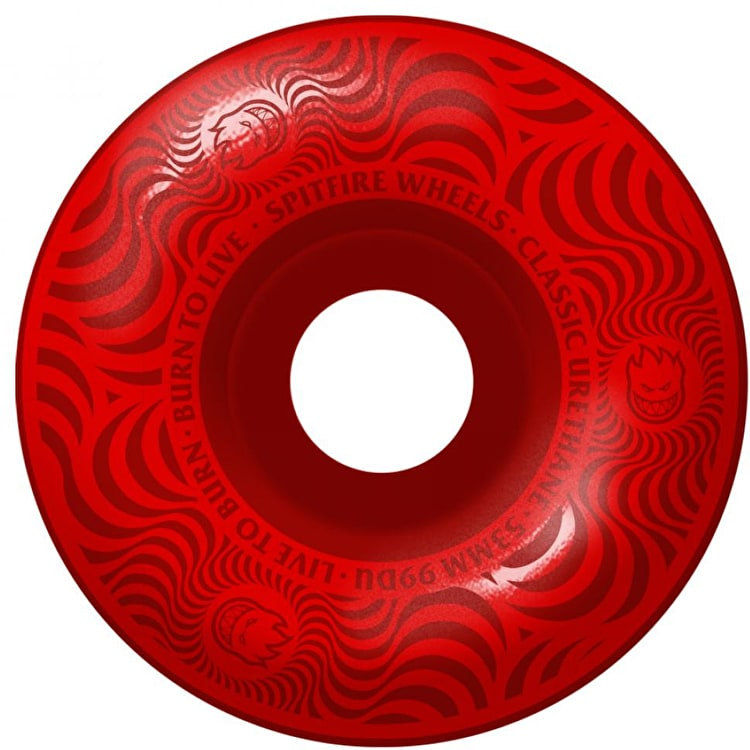 Spitfire Classic Multiswirl 99A Skateboard Wheels - Red 53mm (Pack of 4)